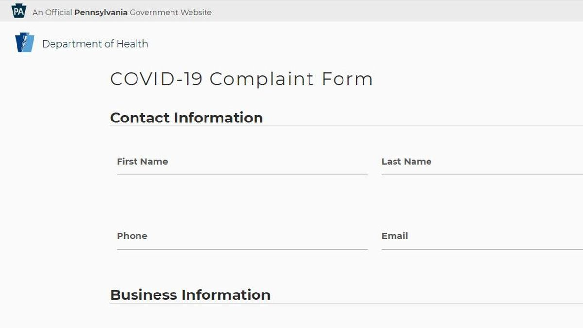 Online complaint form launched to report businesses not complying with COVID-19 orders