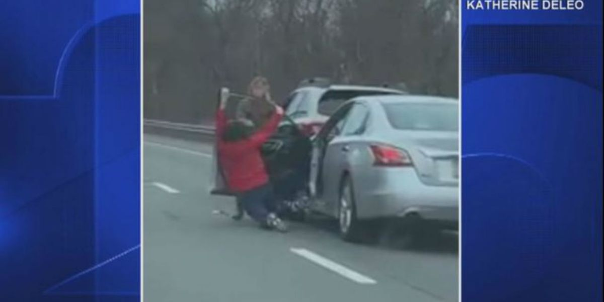 Passing driver records road rage incident