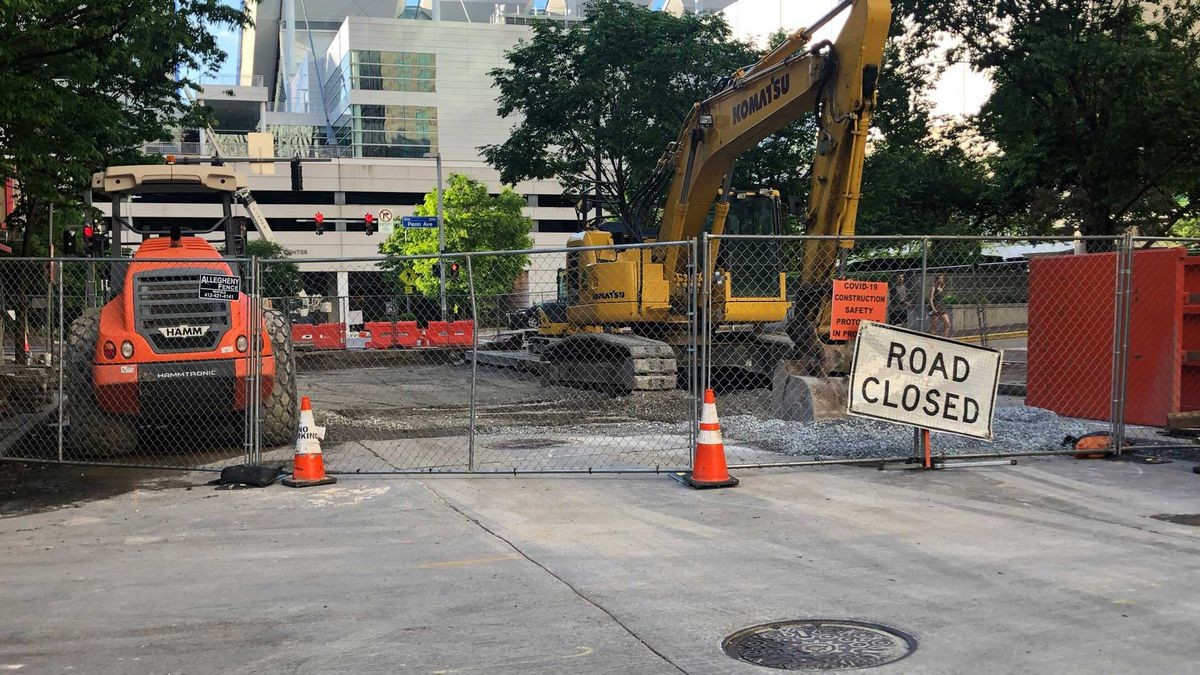 Massive downtown sinkhole appears to be filled months after nearly swallowing PAT bus