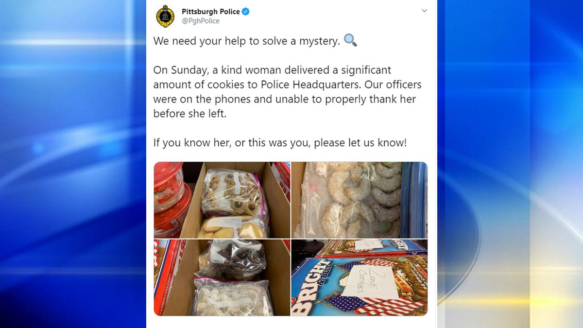 Pittsburgh Police searching for woman who dropped off dozens of cookies