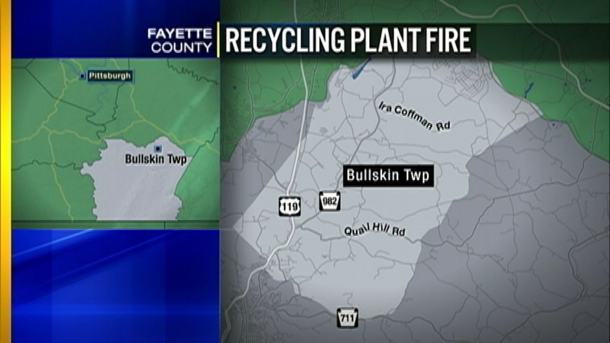 Crews spend hours battling fire at Fayette Co. recycling plant