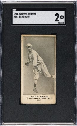 Rare Babe Ruth card found in Altoona sells for nearly $350,000