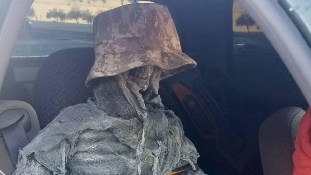 Arizona driver tries to use HOV lane with skeleton passenger