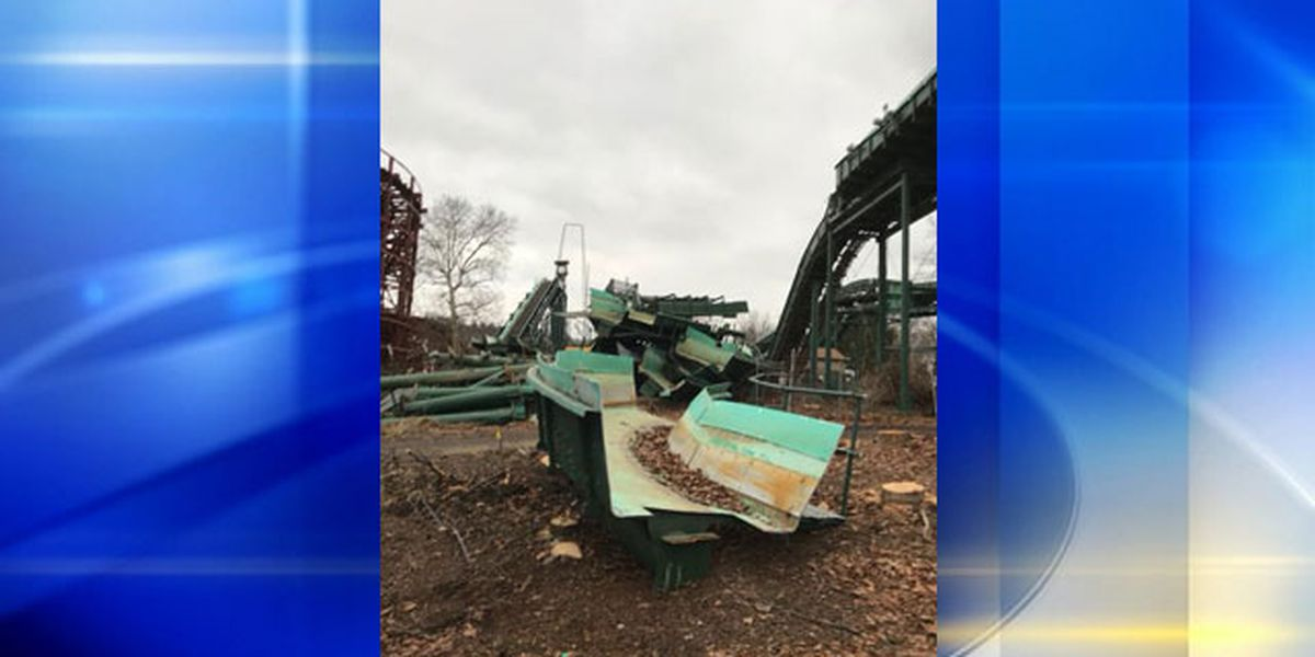 Photos show Kennywood's Log Jammer being dismantled
