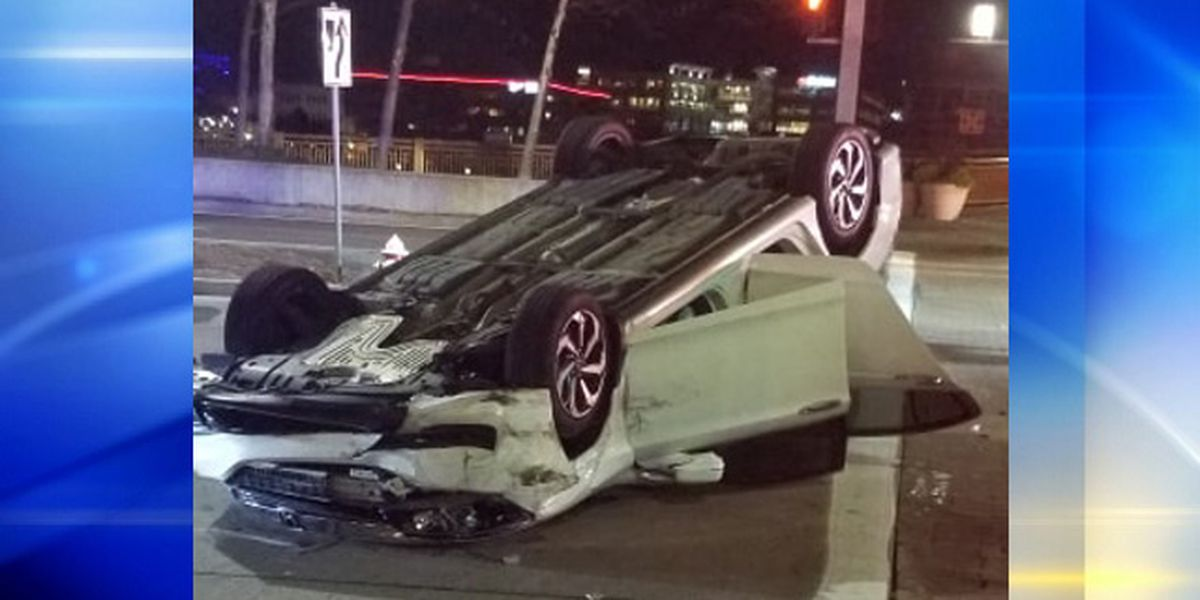 Man rushed to hospital after vehicle rolls over, traps him