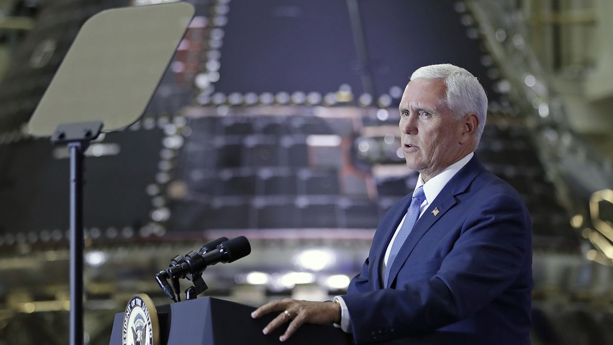 Vice President Mike Pence marks Apollo 11 anniversary at Kennedy Space Center