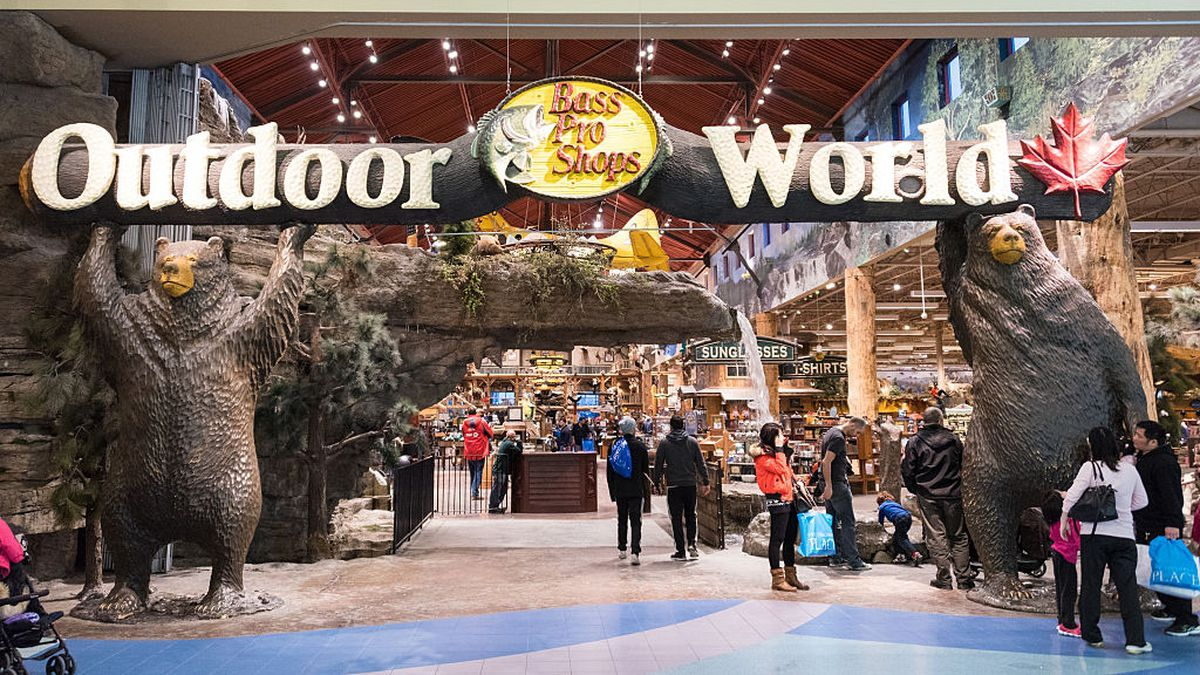 Man jumps into Bass Pro Shop fish tank, swims across
