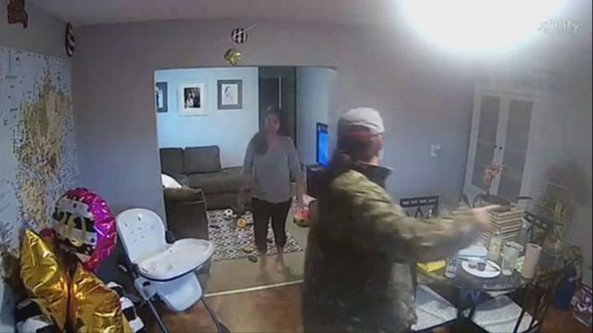 Man caught on video walking into home while mother puts child to bed