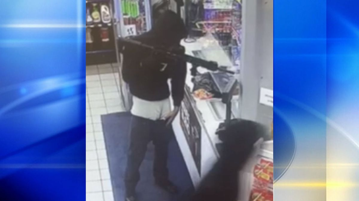Surveillance captures men robbing Allegheny Co. gas station with 'AR-style rifle'