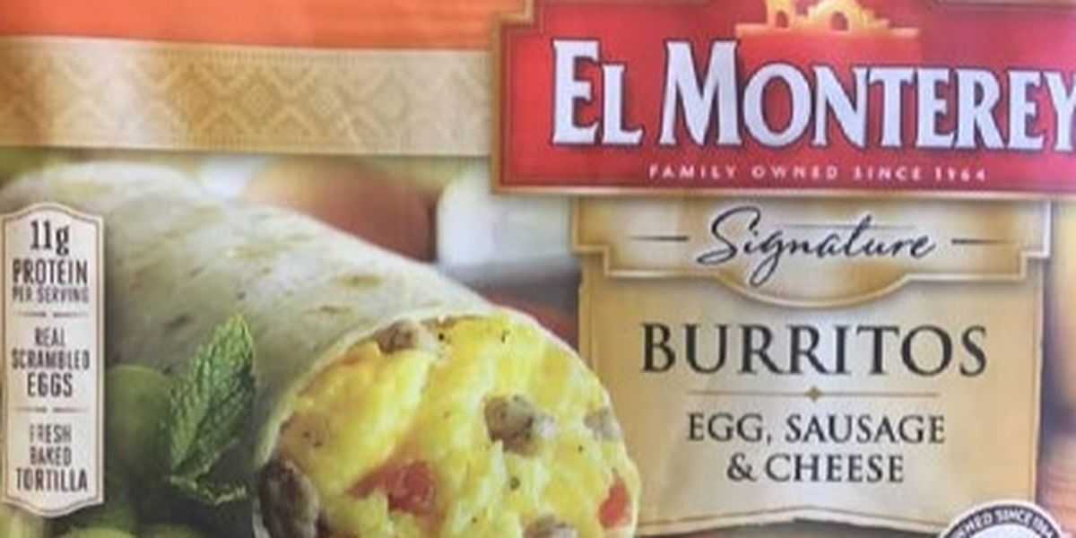 El Monterey breakfast burritos recalled for plastic contamination