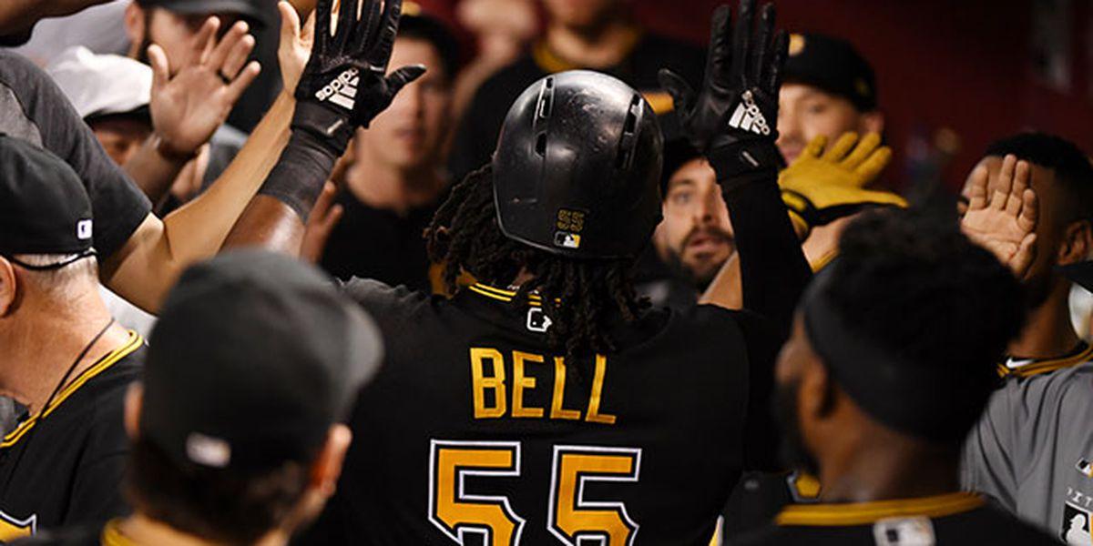 Bell homers twice to lead Pirates past Diamondbacks 6-2
