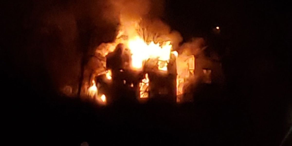 Crews battle massive flames at 2 homes in Pittsburgh's Spring Hill neighborhood