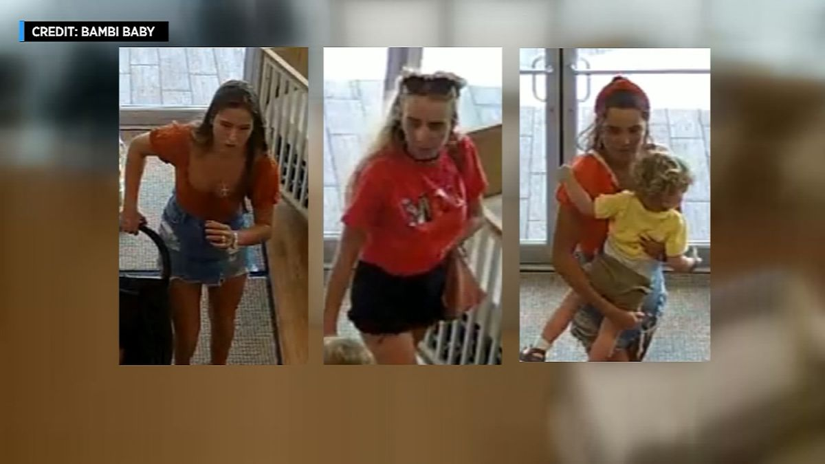Shoplifters steal stroller but leave baby behind