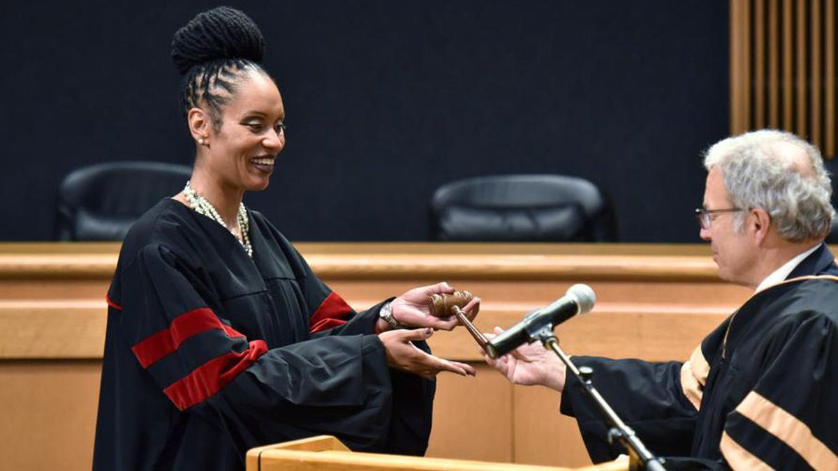 Georgia county swears in first elected black judge