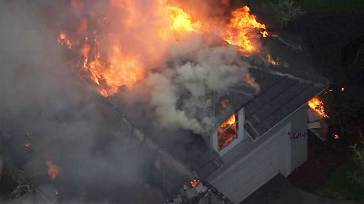 House fire likely sparked by bolt of lightning, officials say
