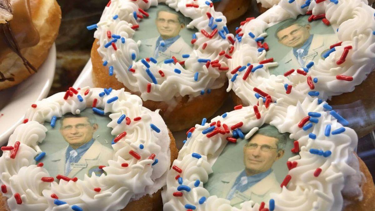Coronavirus: New York shop puts Anthony Fauci's face on doughnuts
