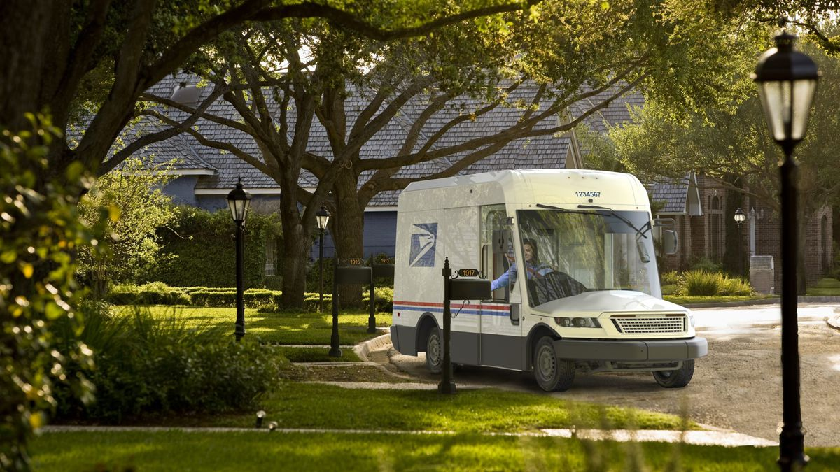 USPS unveils new mail truck of tomorrow