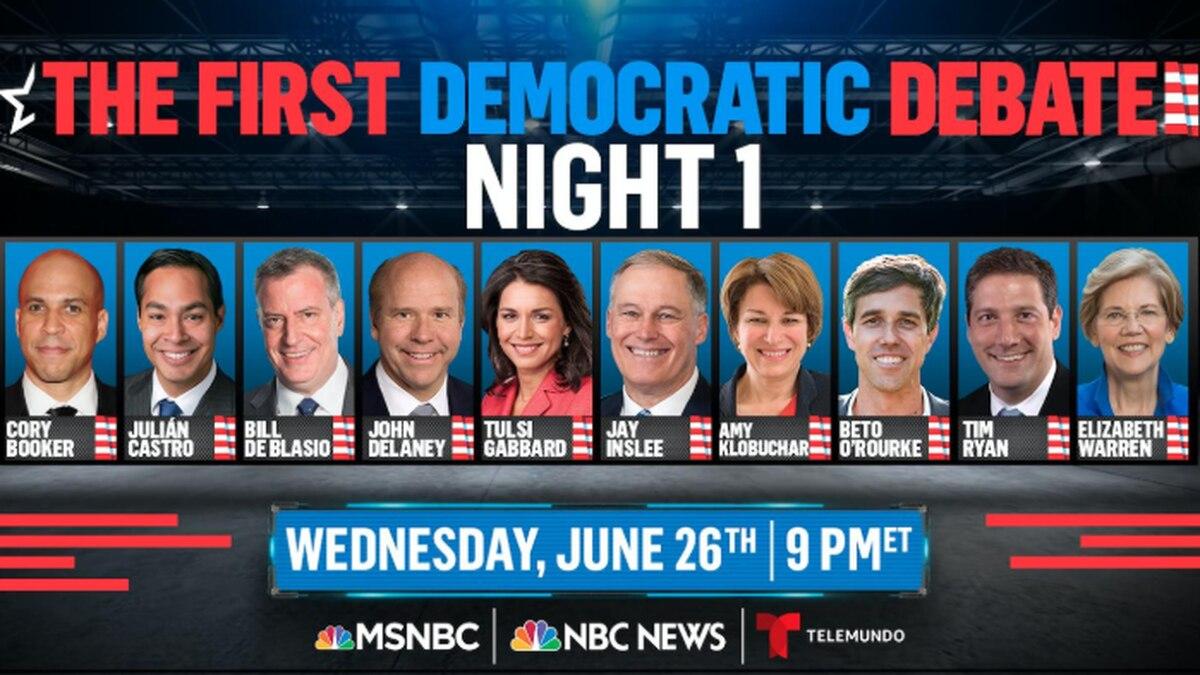 Democrats set lineups for first 2020 debate