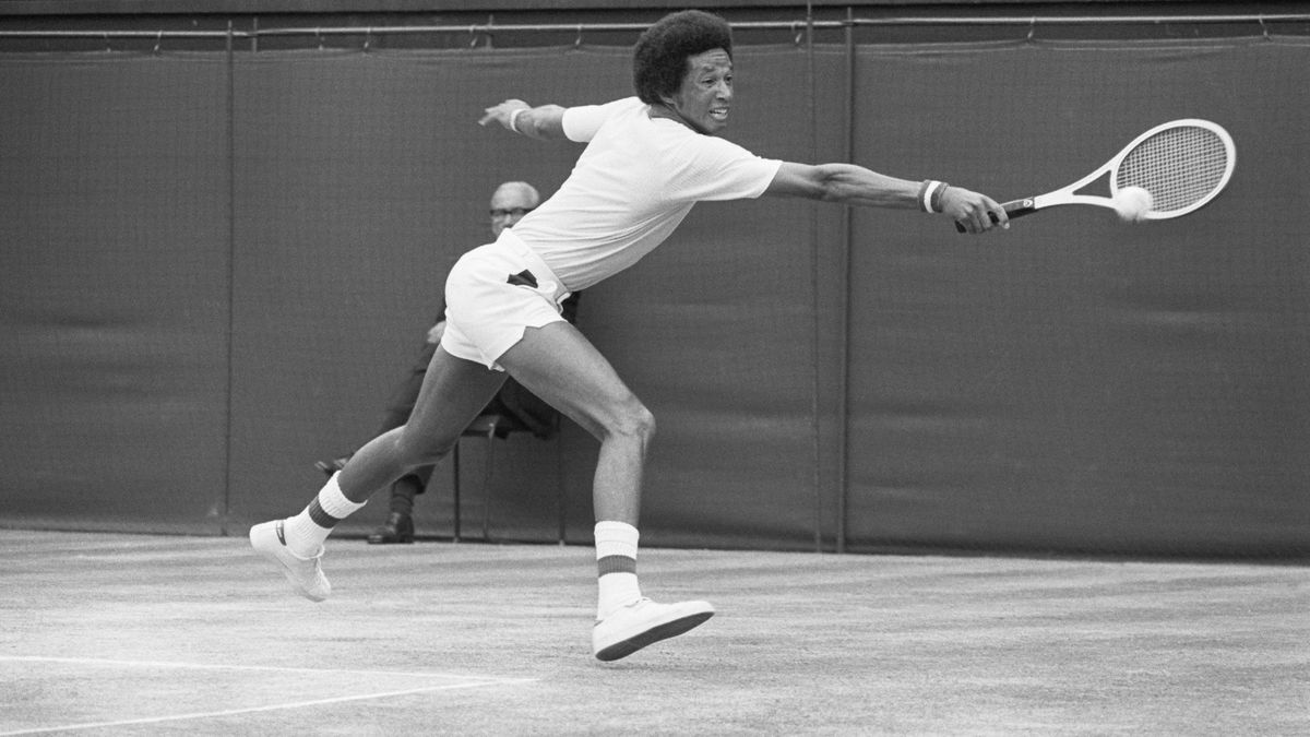 Virginia statue honoring tennis icon Arthur Ashe tagged with ...